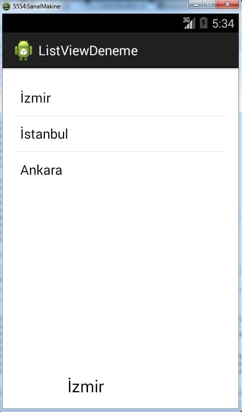 Android Liste Oluşturma (ListView)
