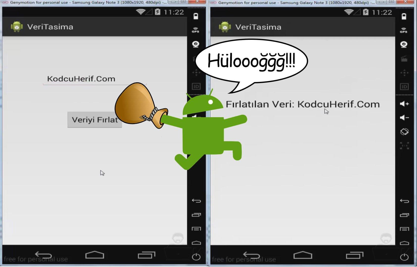 Android Sayfalar Arası Veri Taşıma