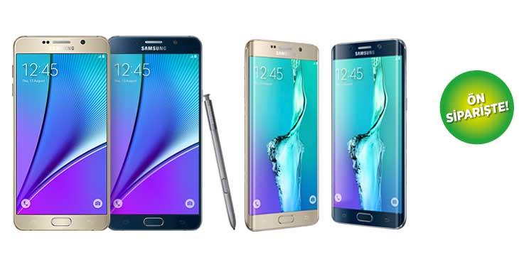 Samsung Note 5 ve S6 Edge+ Fiyatları Belli Oldu