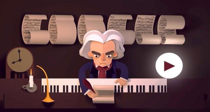 Google 'dan Beethoven 'ın Doğum Gününe Doodle