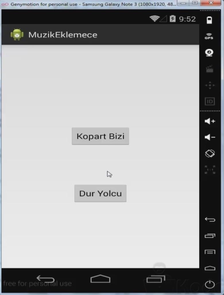 Android Uygulamaya Müzik Ekleme
