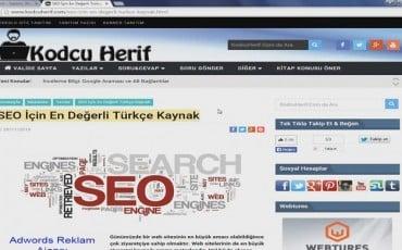 İnceleme Bilgi: Web Sitesi SEO 'su