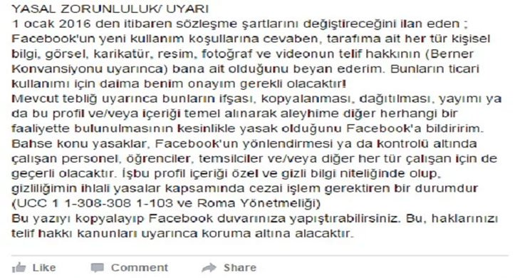 Facebook Trolleme