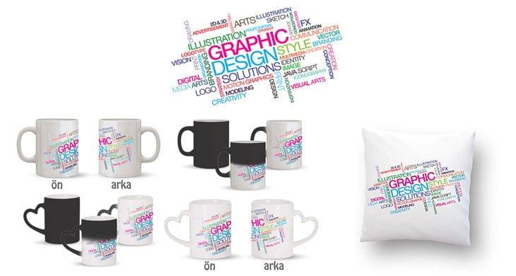 Grafik Tasarım Terimleri Kupa Bardak ve Kırlent