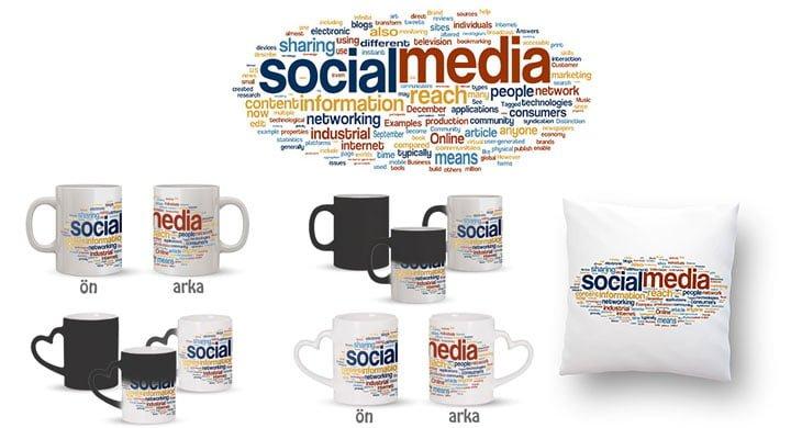 Sosyal Medya Terimleri Kupa Bardak ve Kırlent