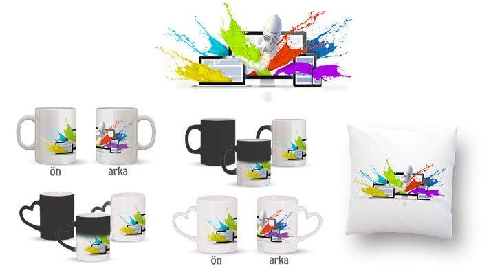Web Tasarımcı Kupa Bardak ve Kırlent