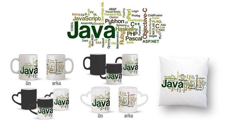 Yazılım Dilleri Kupa Bardak ve Kırlent